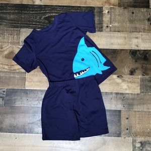 Carters Boys Size 6 Pajama Set Navy Shark K15